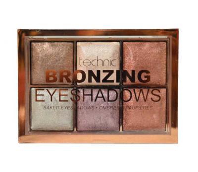 Paleta de farduri cu pigmenti Iluminatori Technic Bronzing 6 Colour Baked Eyeshadow Palette ,6 X 2 g