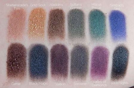 Paleta farduri SLEEK MakeUP i-Divine Eyeshadow Palette Arabian Nights, 12x1.1 gr2