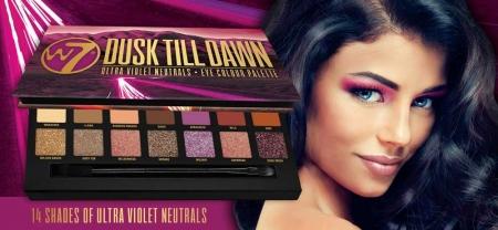 Paleta farduri W7 Dusk Till Dawn Eye Colour Palette, Ultra Violet Neutrals, 14 culori, 9.6g5