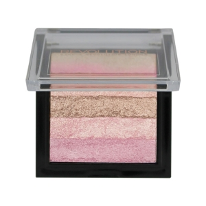 Paleta iluminatoare cu farduri de obraz MAKEUP REVOLUTION Shimmer Brick Pink Kiss, 7g2