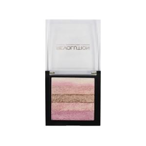 Paleta iluminatoare cu farduri de obraz MAKEUP REVOLUTION Shimmer Brick Pink Kiss, 7g3