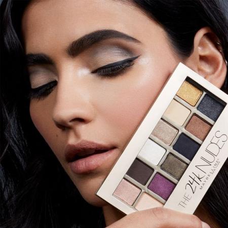 Paleta Farduri Maybelline The 24 Karat Nudes Eyeshadow Palette, 12 Nuante, 9.6 g2