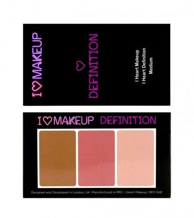 Paleta Profesionala pentru Conturare si Iluminare I Heart Makeup, Medium, 11g