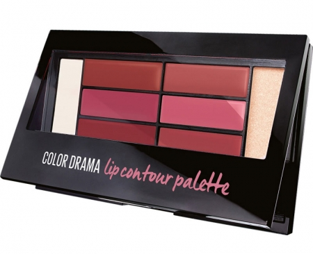 Paleta rujuri Maybelline New York Color Drama Lip Contour Palette, 02 Blushed Bombshell, 4 g