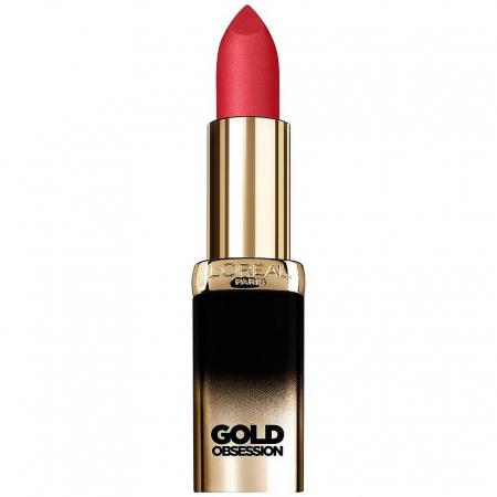 Ruj L'Oreal Color Riche Gold Obsession - Rose Gold