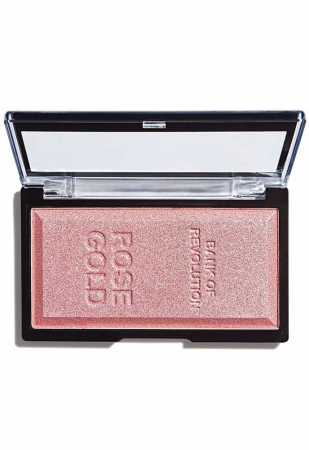 Iluminator compact Makeup Revolution, Ingot Highlighter - Rose Gold, 12g