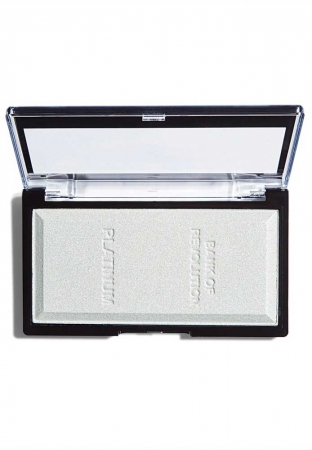 Iluminator compact Makeup Revolution, Ingot Highlighter - Platinum, 12g
