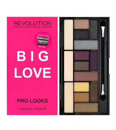 Paleta Makeup Revolution Pro Looks Palette, 3 Looks in 1 - Big Love, 13g1