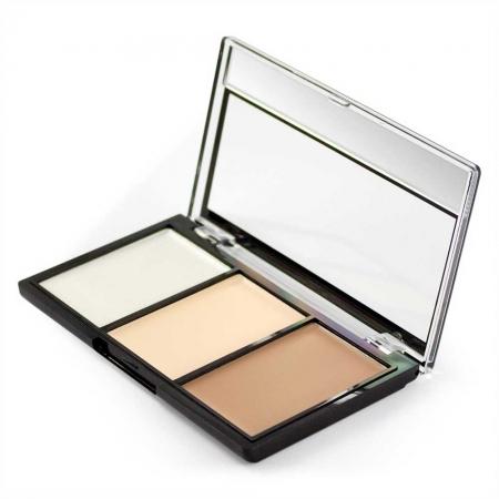 Kit Profesional pentru Conturare si Iluminare Makeup Revolution Ultra Contour Kit, Lightening Contour 01, 3x3.6g1