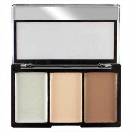 Kit Profesional pentru Conturare si Iluminare Makeup Revolution Ultra Contour Kit, Lightening Contour 01, 3x3.6g2