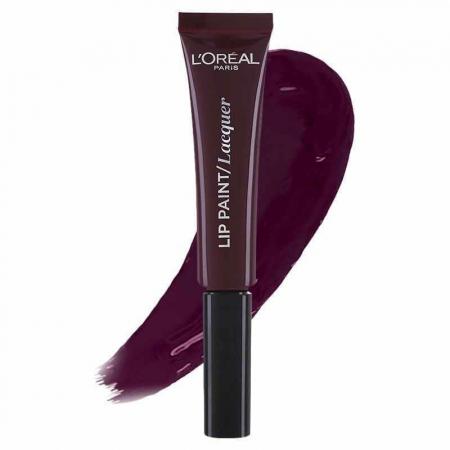 Ruj Lichid L'oreal Infallible Lip Paint Lacquer - 107 Dark river, 8 ml0