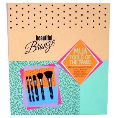 Set 5 Pensule pentru Conturare si Blending SUNKissed Beautiful Bronze Tools Of The Trade Brush Set1