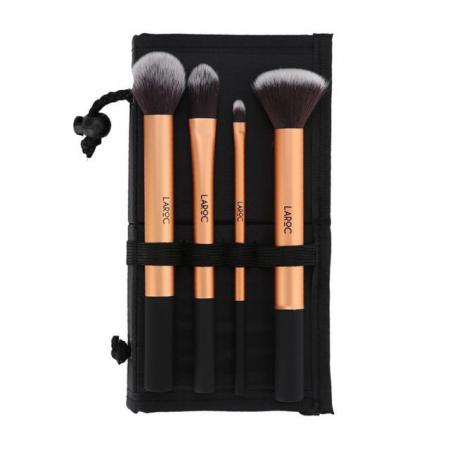 Set 4 Pensule Profesionale LAROC Makeup Gold Brush Set0