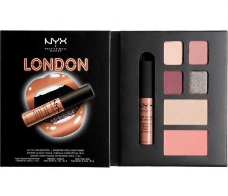 Set Machiaj NYX Professional Lip Eye Face Collection City Gift Set London, Special Edition0