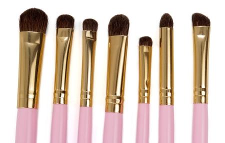 Set 7 Pensule Profesionale pentru Machiajul Ochilor, Gold Pink1
