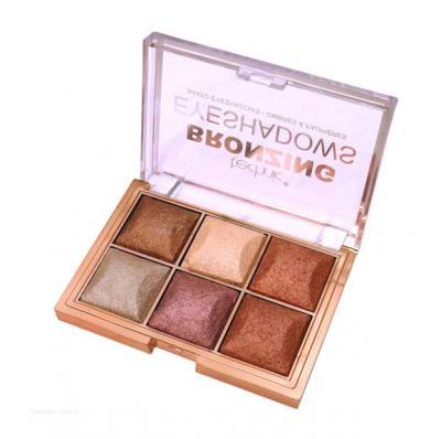Paleta de farduri cu pigmenti Iluminatori Technic Bronzing 6 Colour Baked Eyeshadow Palette ,6 X 2 g1