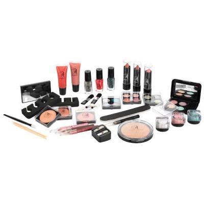 Valiza completa pentru Machiaj TECHNIC Essential Large Clear Carry Case With Cosmetics1