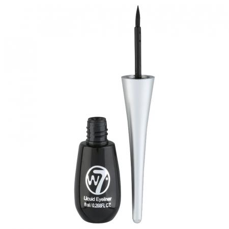 Tus de ochi W7 Dip Liquid Eyeliner, Negru, 8 ml
