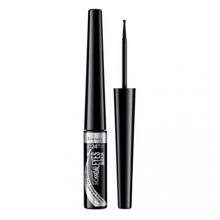 Tus de ochi lichid Rimmel London ScandalEyes Bold Waterproof, Black, 2.5 ml5