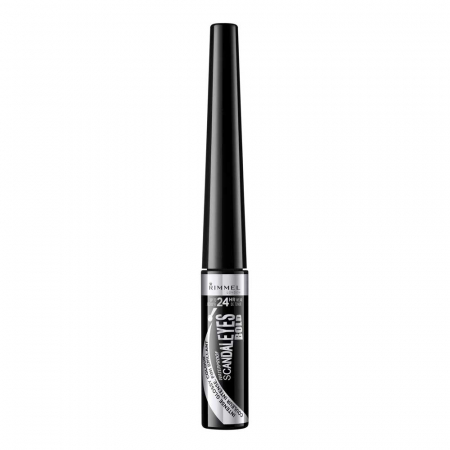 Tus de ochi lichid Rimmel London ScandalEyes Bold Waterproof, Black, 2.5 ml0