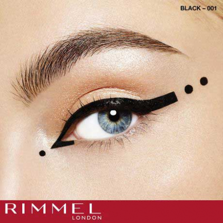 Tus de ochi lichid Rimmel London ScandalEyes Bold Waterproof, Black, 2.5 ml4