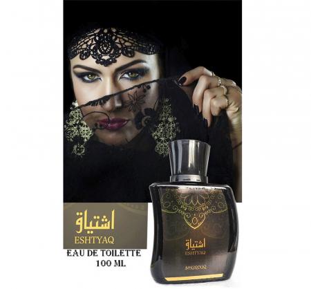 Parfum arabesc dama, Eshtyaq by SHUROUQ EDT, 100 ml1