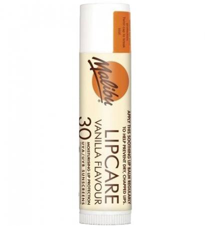 Balsam De Buze Protector Malibu Lipcare, UVA/UVB, SPF 30, Vanilla, 4 g