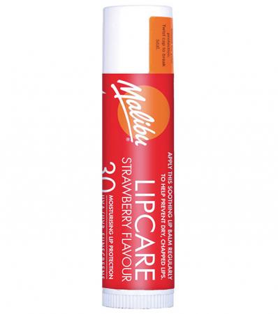 Balsam De Buze Protector Malibu Lipcare, UVA/UVB, SPF 30, Strawberry, 4 g