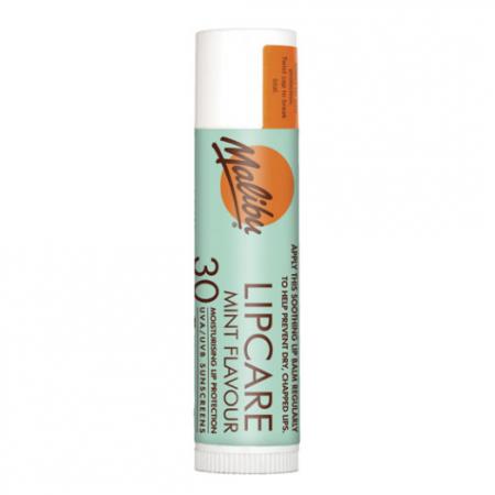 Balsam De Buze Protector Malibu Lipcare cu Menta, UVA/UVB, SPF 30, 4 g