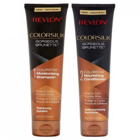 Pachet Sampon si Balsam pentru parul brunet REVLON Colorsilk Gorgeous Brunette, 2 x 250 ml