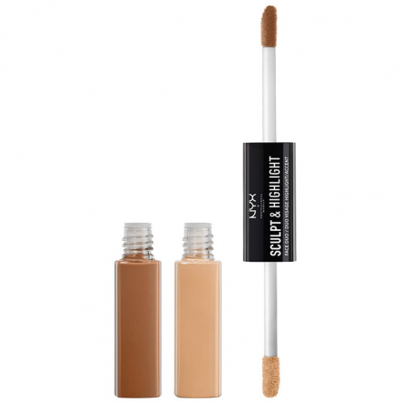 Contur ten NYX Professional Makeup Sculpt & Highlight Face Duo, Almond Light, 2 x 5.3 ml0