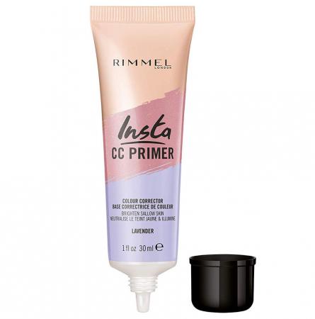 Primer corector Rimmel London Insta CC Primer Colour Corrector, Lavender, 30 ml