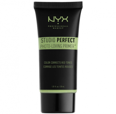 Primer ten anti-roseata NYX Professional Makeup Studio Perfect, Photo-Loving Primer Anti Redness, 30 ml