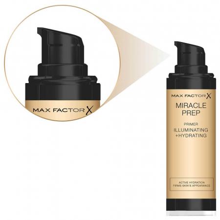 Baza de machiaj Max Factor Miracle Prep Illuminating + Hydrating Primer, 30 ml2