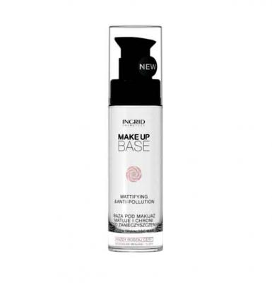 Baza de Machiaj Profesionala Matifianta si Protectoare cu Acid Hialuronic INGRID Make-up, 30ml