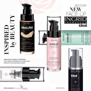 Baza de Machiaj Profesionala Matifianta si Protectoare cu Acid Hialuronic INGRID Make-up, 30ml1