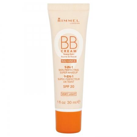 BB Cream Rimmel 9 In 1 Radiance - Very Light Skin, 30 ml
