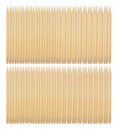 Betisoare din lemn de portocal pentru cuticule si unghii, 100 bucati1