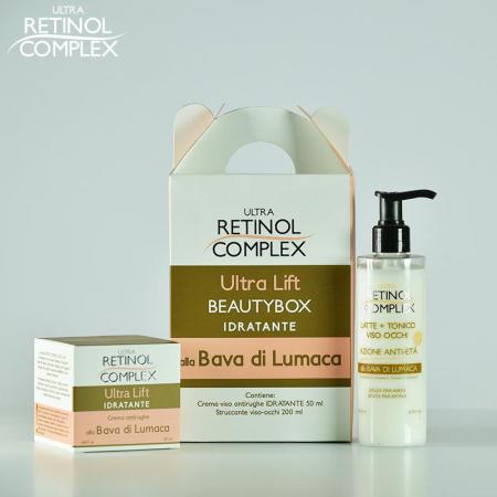 Set Cadou Beauty Box cu extract de melc: crema antirid si lapte demachiant, Ultra Retinol Complex