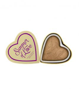 Iluminator Makeup Revolution I Heart Makeup Blushing Hearts Baked Highlighter - Summer Of Love, 10g