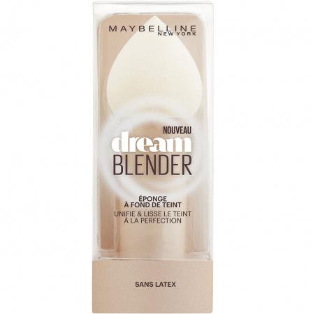 Burete Maybelline New York Dream Blender pentru aplicarea fondului de ten, lavabil, fara latex