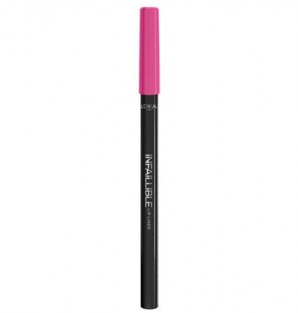 Creion de buze rezistent la transfer L'Oreal Paris Infallible Lip Liner, 103 Fuchsia Wars