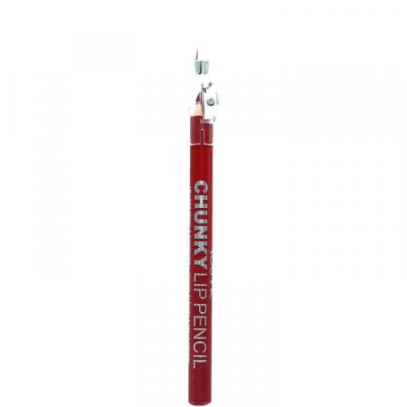 Creion De Buze Technic Chunky Lip Pencil cu ascutitoare, Dark Red