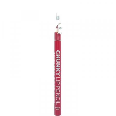 Creion De Buze Technic Chunky Lip Pencil cu ascutitoare, Bright Pink