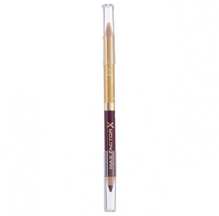 Creion de Ochi Max Factor Eyefinity Smoky Eye Pencil, 03 Royal Violet & Crushed Gold