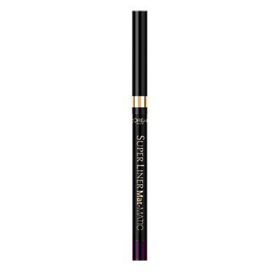 Creion De Ochi Retractabil L'Oreal Super Liner Mat-MATIC - Deep Violet0