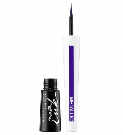 Tus de ochi MAYBELLINE Master Ink Liquid Eyeliner, Metallic, 32 Twilight Purple