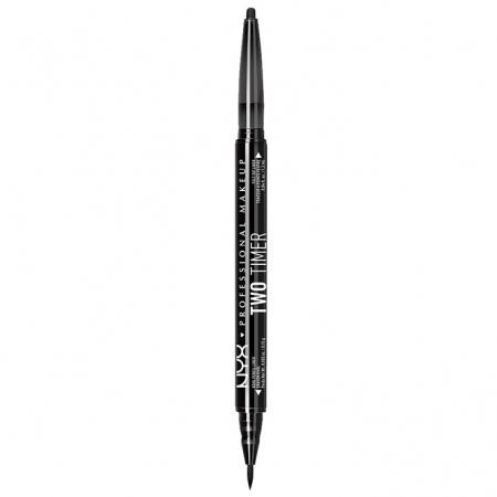 Creion De Ochi NYX Professional Makeup Two Timer Kohl Pencil & Felt Tip Liner, Black5