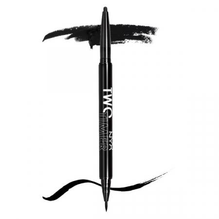 Creion De Ochi NYX Professional Makeup Two Timer Kohl Pencil & Felt Tip Liner, Black1
