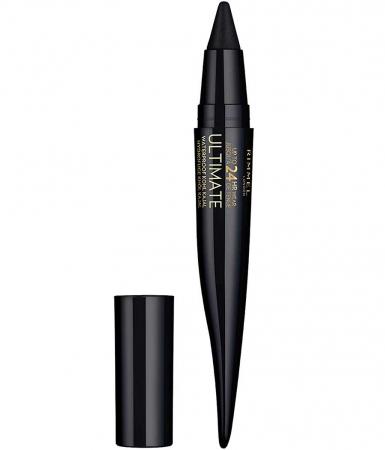Creion Rimmel London Ultimate Kohl Kajal Waterproof Eyeliner, 01 Black Obsidian, 1.6 g